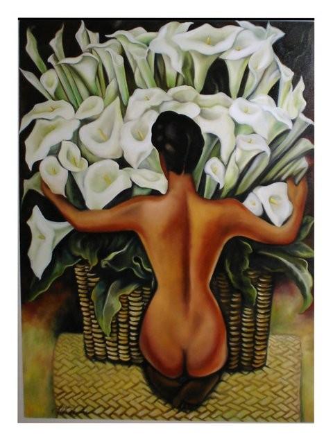 """Réplica diego Rivera, 2006"" 100 x 120 cm."