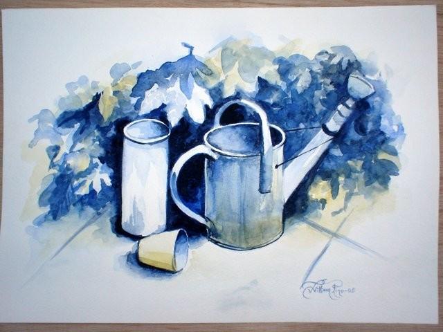 """""""Jardinería, 2005"""" 30 x 40 cm."""
