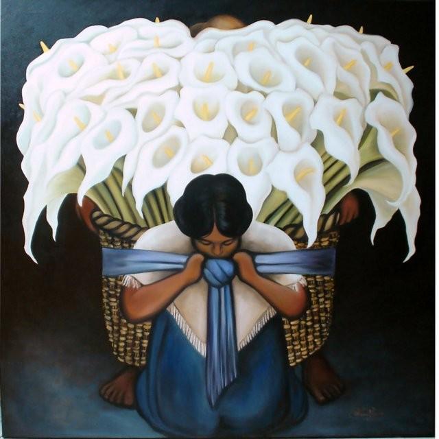 """Réplica Diego Rivera, 2006"" 100 x 100 cm."