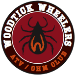 Every new member gets free club logo stickers for their ATVs and off-highway motorcycles.  Extra logos: $1  Also available in an embroidered patch to sew on your favorite gear. $3 each.