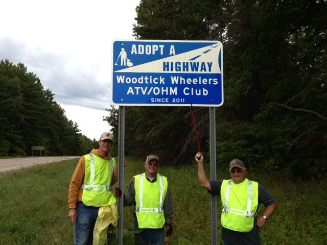 Our club is part of the Adopt-a-Highway program, cleaning a 2-mile stretch of State Hwy 200 along Whipholt, Minnesota.