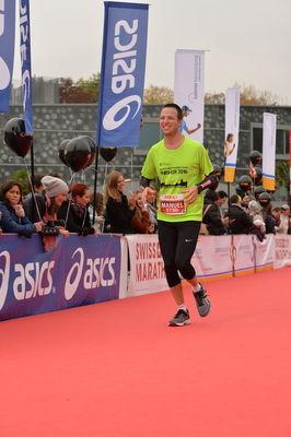 Manuel auf den letzen Metern beim Luzern Marathon