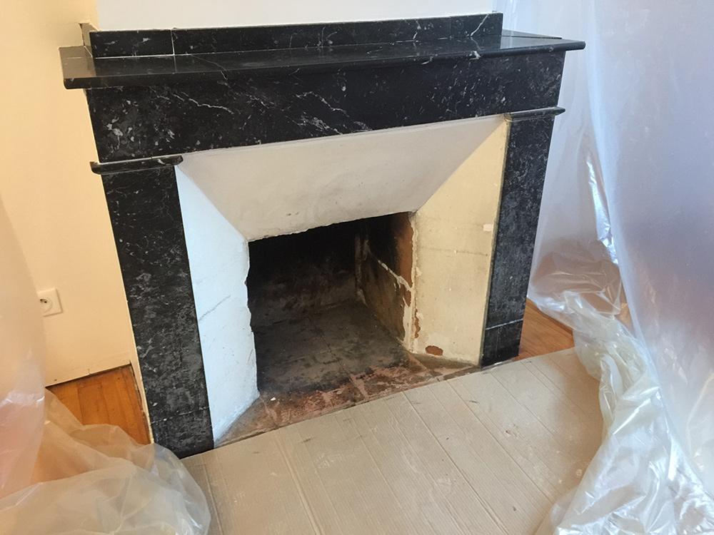 Rénovation d'une cheminée - Avant travaux