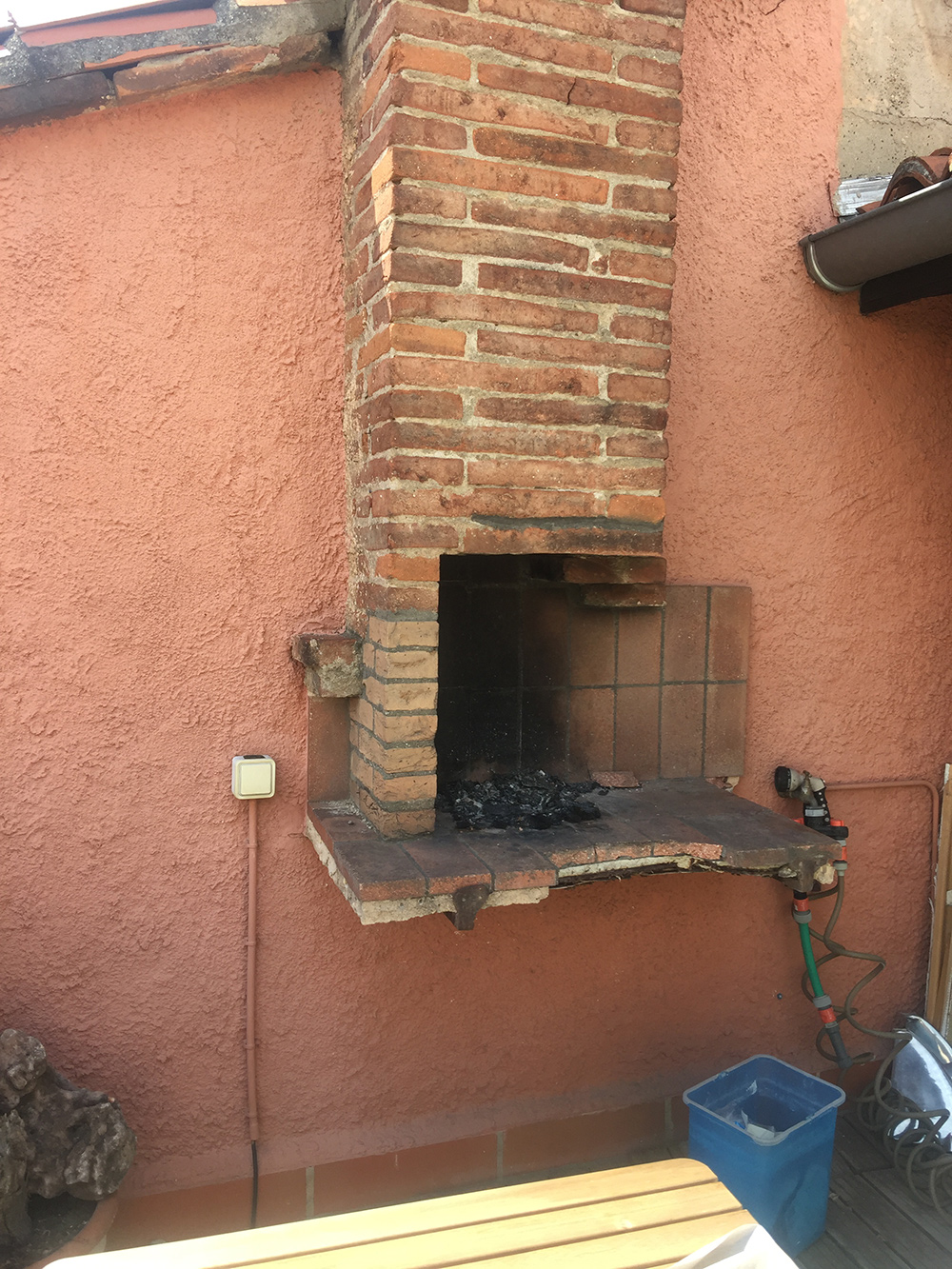 Rénovation d'un barbecue - Avant travaux