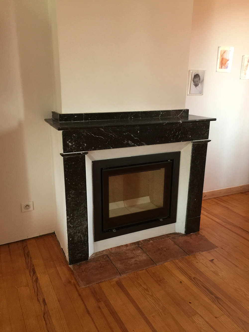 Rénovation d'une cheminée - Après travaux
