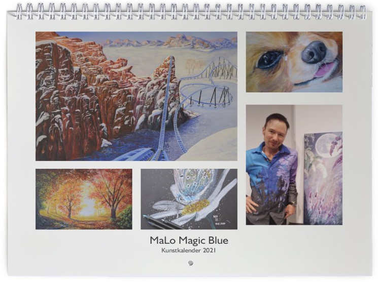 Kunstkalender 2021 von Mario Lorenz alias MaLo Magic Blue