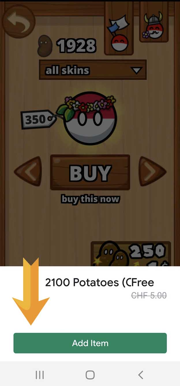 9. Click on «Add Item» and get the gift for free