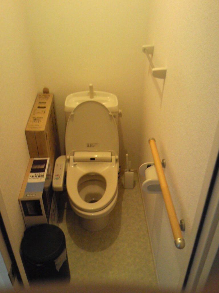 少し狭いトイレ