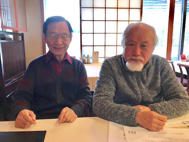 ☆右側は世田谷スマホ研究会の真貝高三さん、左側は岡崎宏さん。