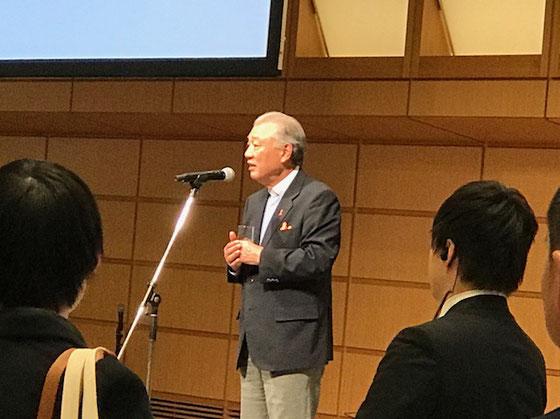 ☆3年前のFORUM2017の席上での笹川陽平会長様のご挨拶。