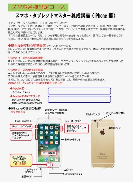 ☆協会の準備したテキストは「iPad版」なので生田さんが作製したiPhone用補助教材テキスト)の1ページ目。全5ページ。