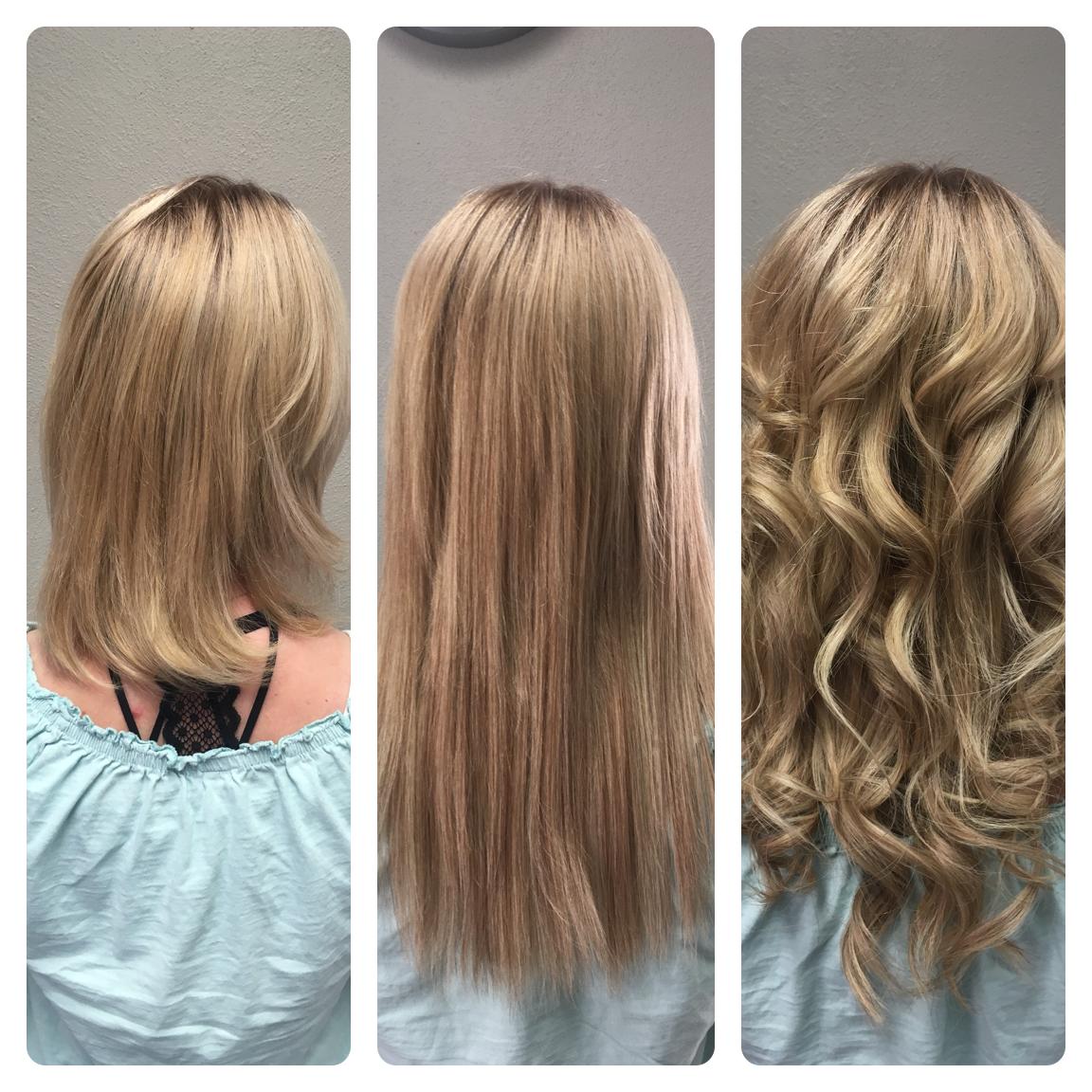 Haarverlängerung mit 2 Farben 25cm Länge