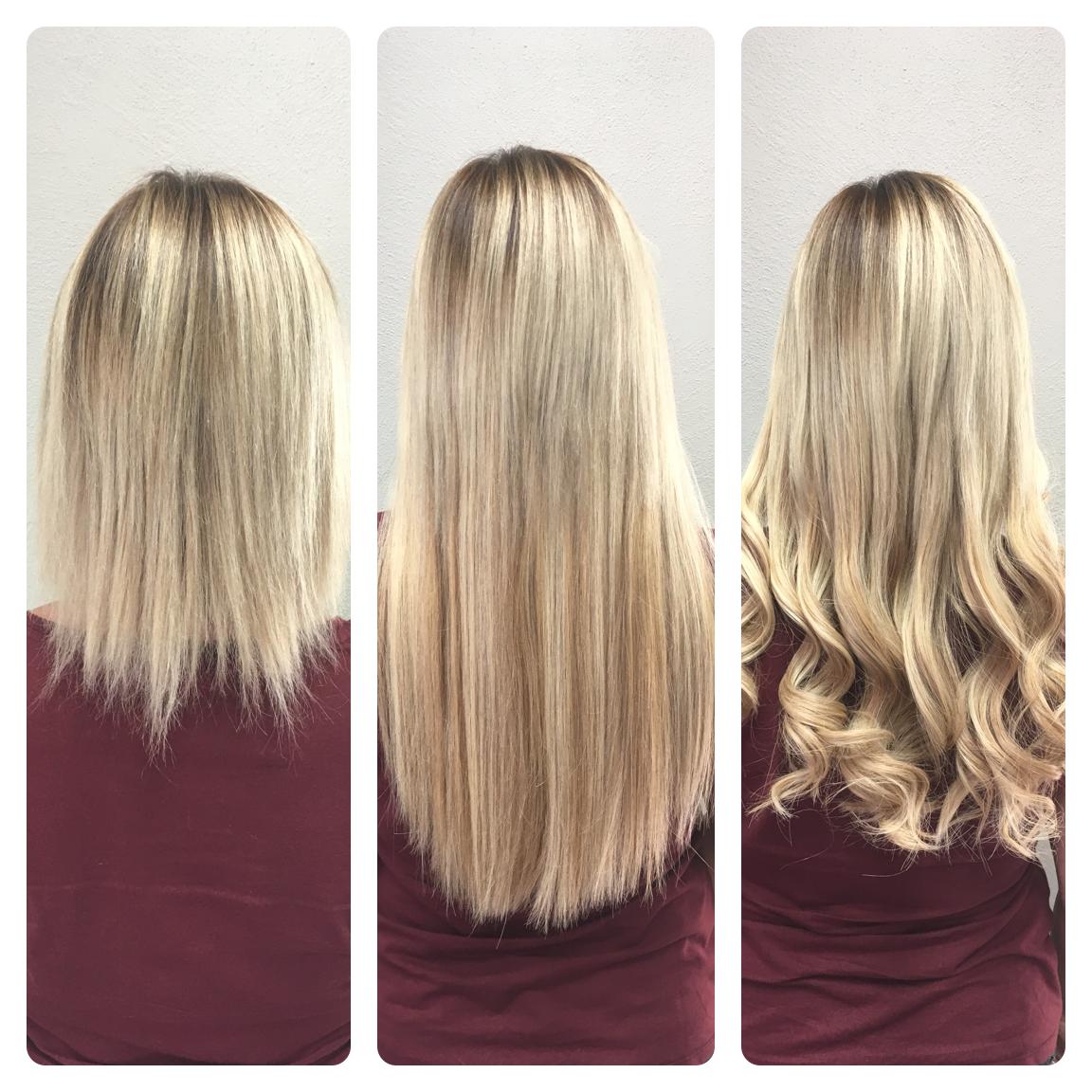 Haarverlängerung mit 3 Farben 40cm Länge