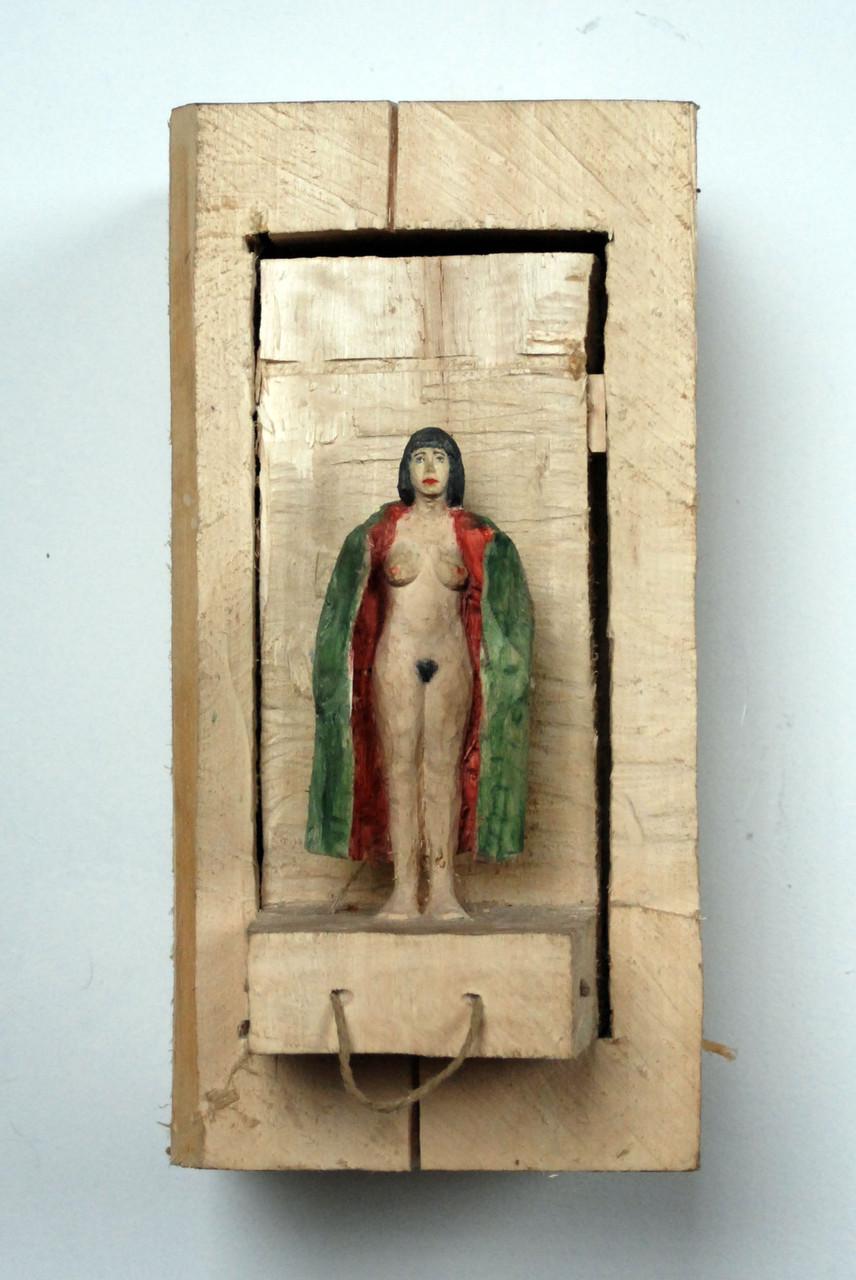 Kiste 24  I  Pappelholz, Farbe, Schnur  I  2013