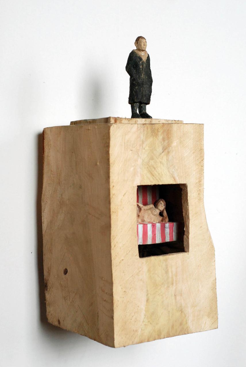 Kiste 12  I  Pappelholz, Farbe  I  2014