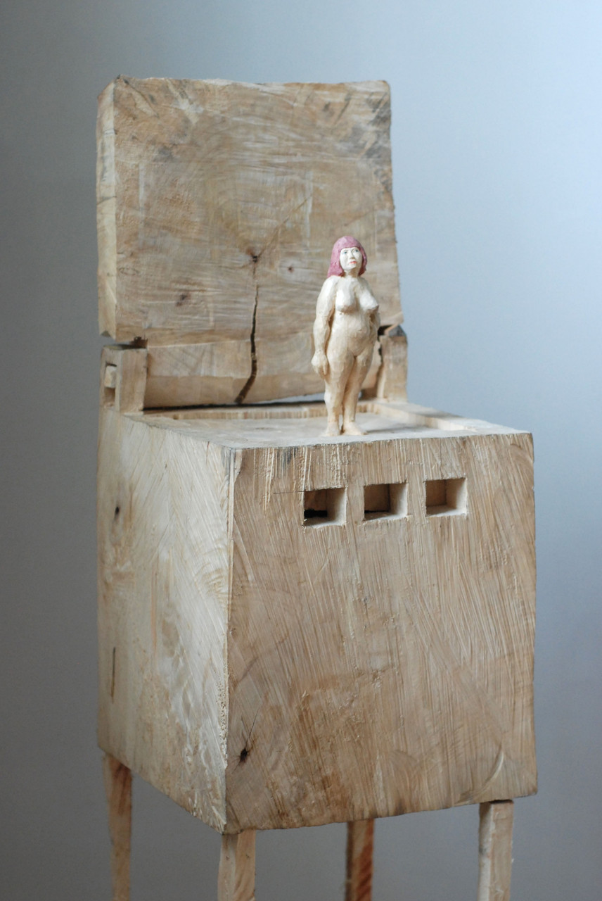 Kiste 23  I  Pappelholz, Farbe  I  2014