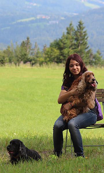Furby und Firsty bei unserer Schöckl-Bergwanderung am 04.08.2012. Unsere 13-jährige Dame hat bei der sechsstündigen Wanderung toll mit den Jungen mitgehalten ...