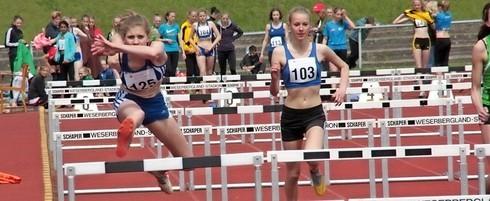 Sara Hannemann (links) wuchs im Siebenkampf über sich hinaus.