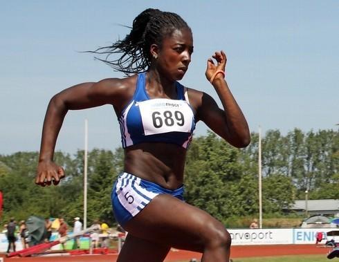 Josephen Amofa schrammte knapp an Bronze vorbei, lief dabei aber in 13,06 Sekunden Bestzeit über 100 m. (Bild: Tageblatt)
