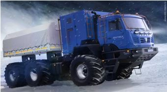 Арктический вездеход –«КамАЗ-Арктика» / Arctic all-terrain vehicle - KamAZ-Arctic