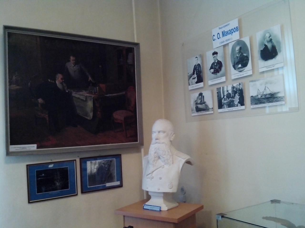 Экспозиция Музея Балтийского флота, посвященная адмиралу С.О. Макарову