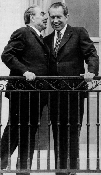 Л.И. Брежнев и Р.Никсон, Москва, 1972 г.