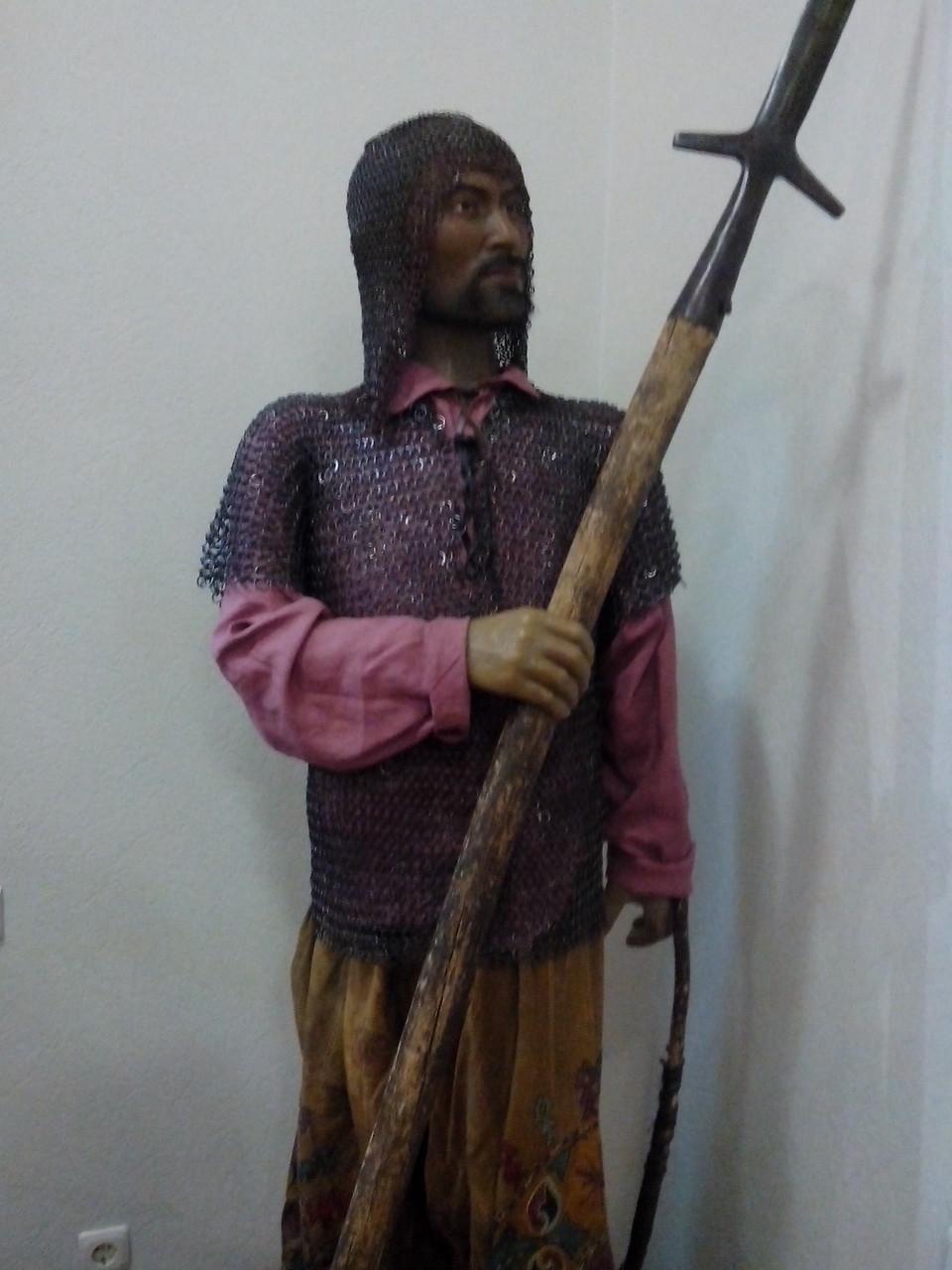 Башкирский воин, восковая фигура. Национальный музей Республики Башкортостан