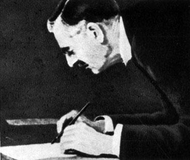Премьер-министр Великобритании Чемберлен подписывает мюнхенское соглашение. 1938 г.