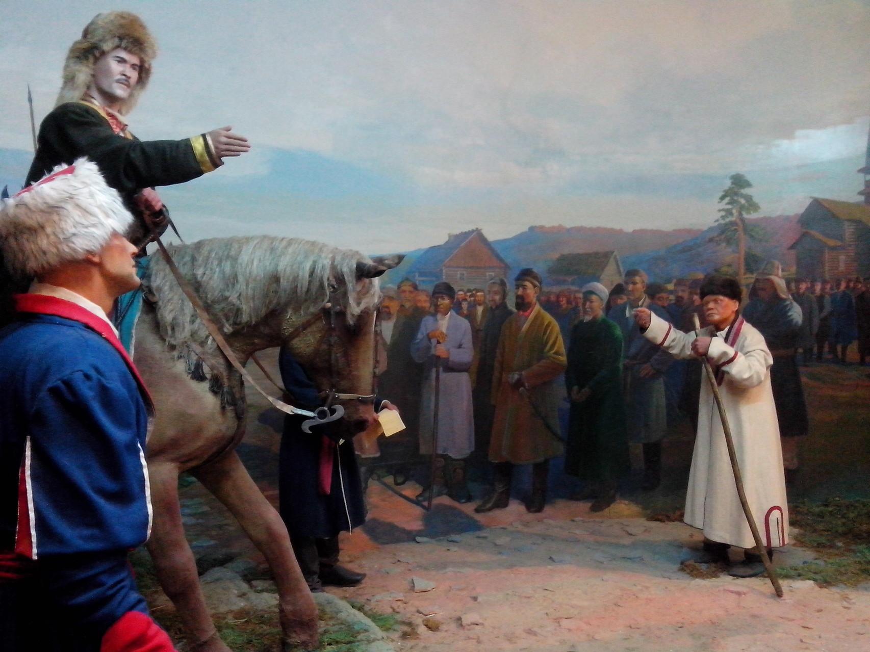 Экспозиция, посвященная Салавату Юлаеву. Национальный музей Республики Башкортостан