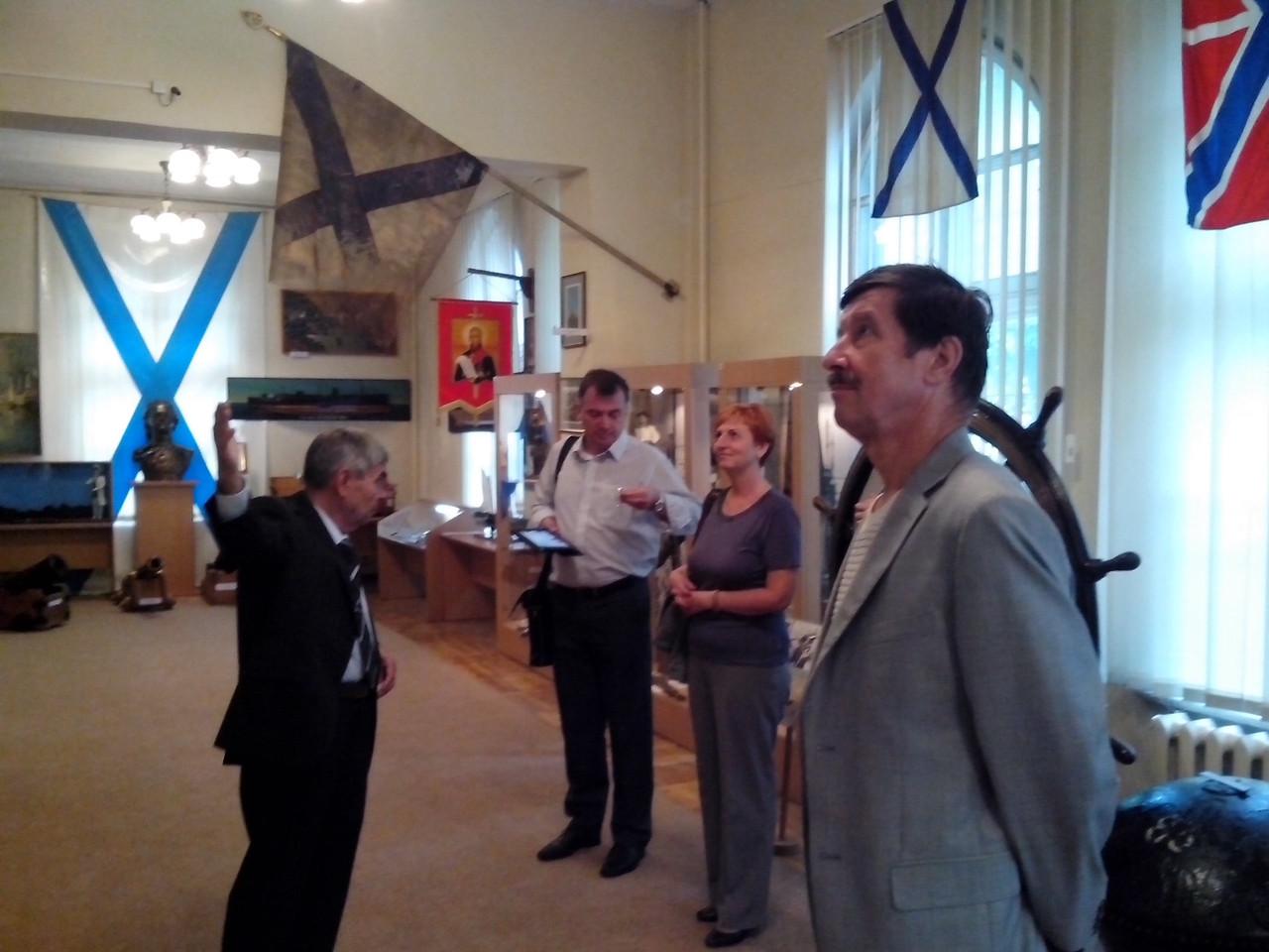 Участники конференции в Музее Балтийского флота