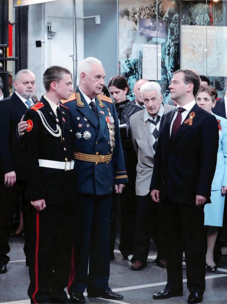 Д.А. Медведев и Б.П. Уткин в Центральном музее ВС РФ