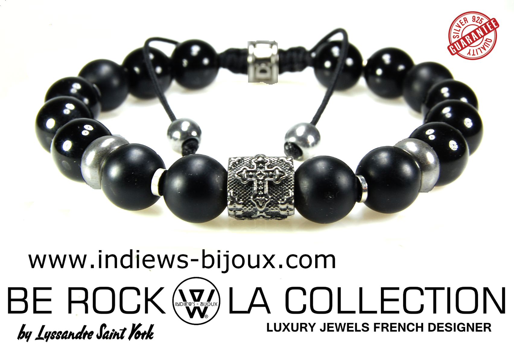 bracelet croix rock bracelet homme tendance en argent 925 indiews bijoux. Black Bedroom Furniture Sets. Home Design Ideas