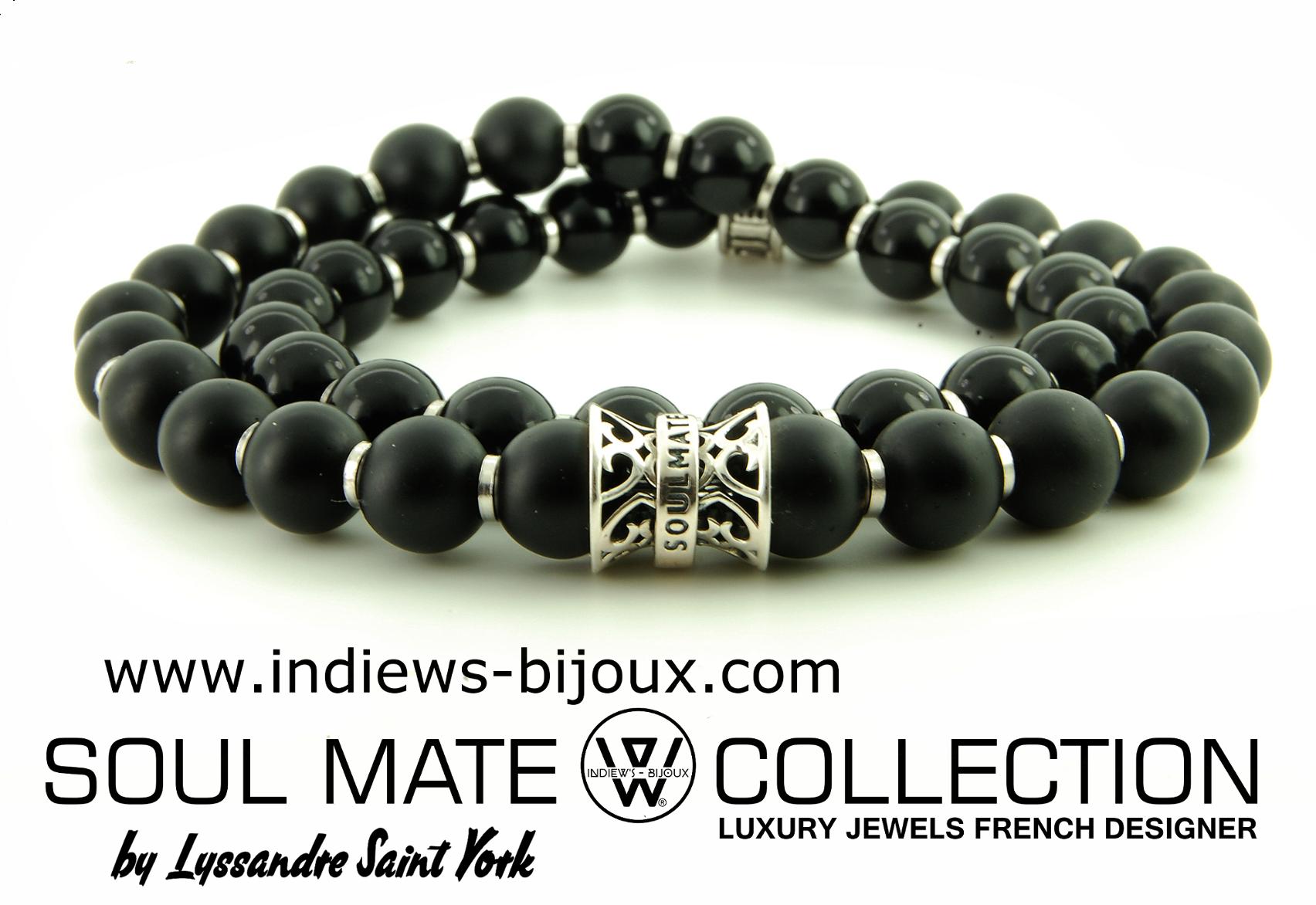 bracelet homme collection luxe argent bracelet homme perle indiews bijoux. Black Bedroom Furniture Sets. Home Design Ideas