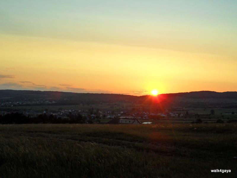 Und hier der Sonnenuntergang
