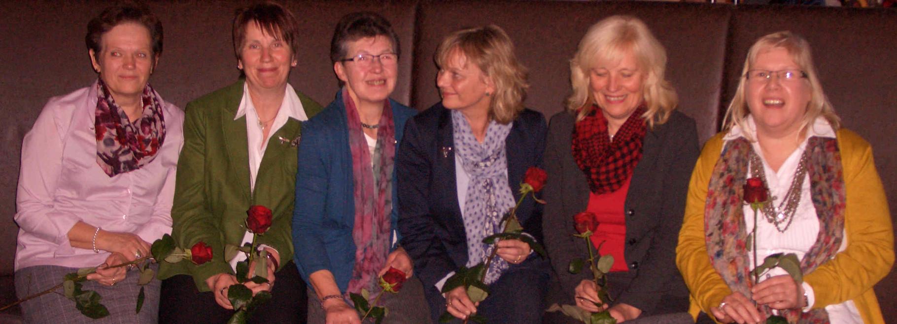 Aus dem Vorstand verabschiedete Landfrauen