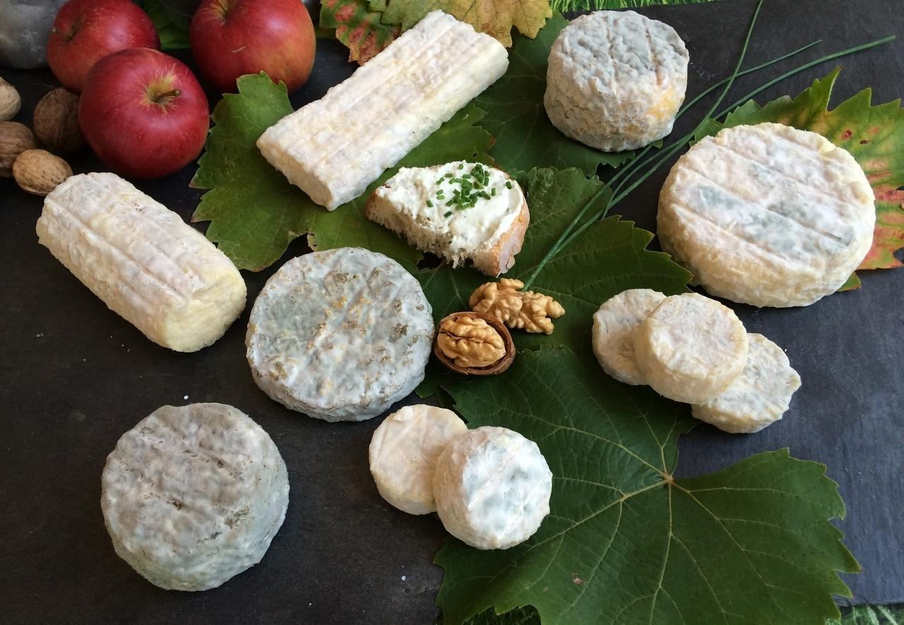 Plateau de fromages de chèvre fermiers