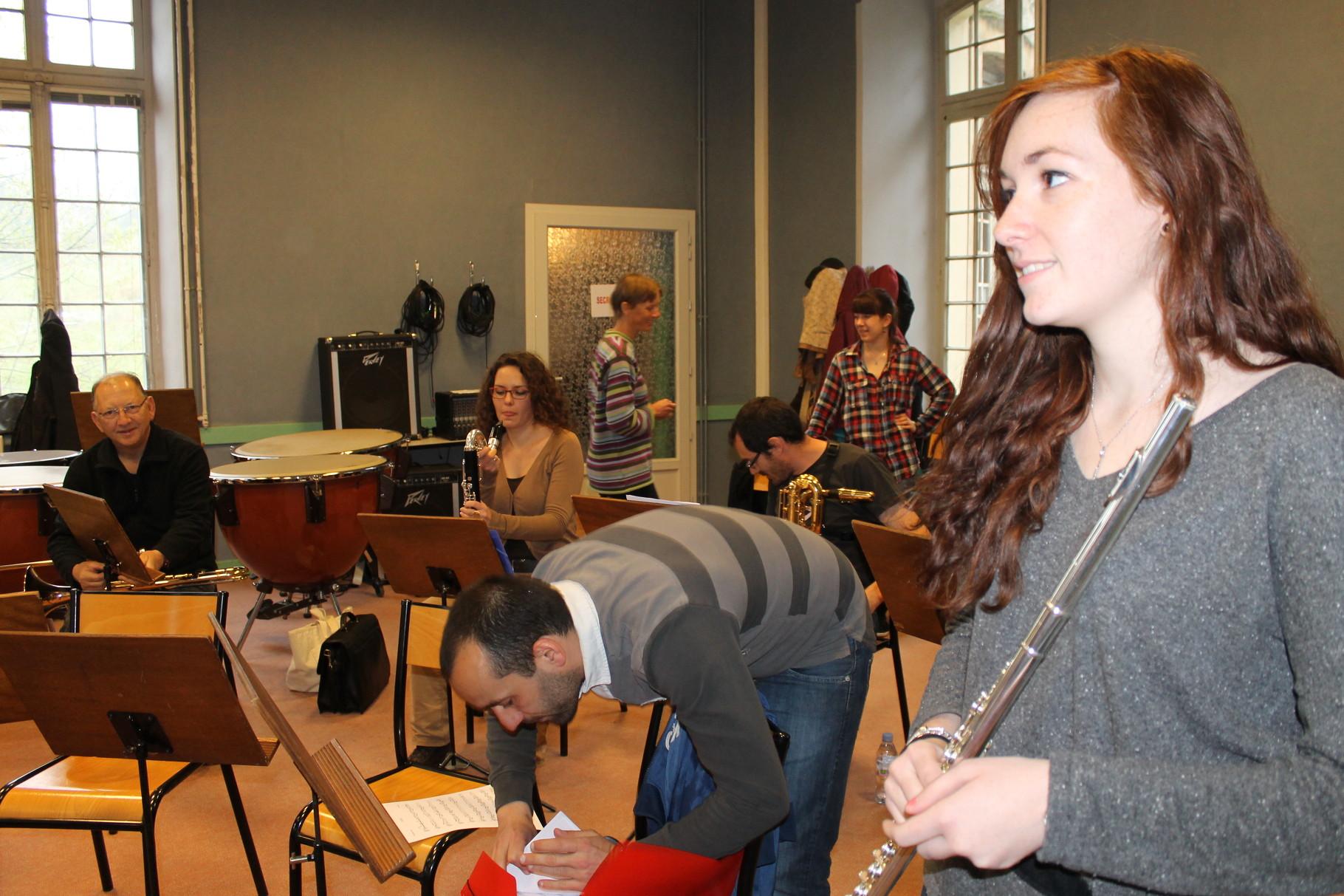 Répétition à l'Ensemble instrumental de l'Ecole de musique du canton de Saint-Alban-Leysse et de La commune de La Ravoire pour le concert de Printemps