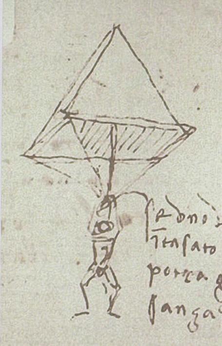 Da Vinci 1485 - 1487 Fallschirm