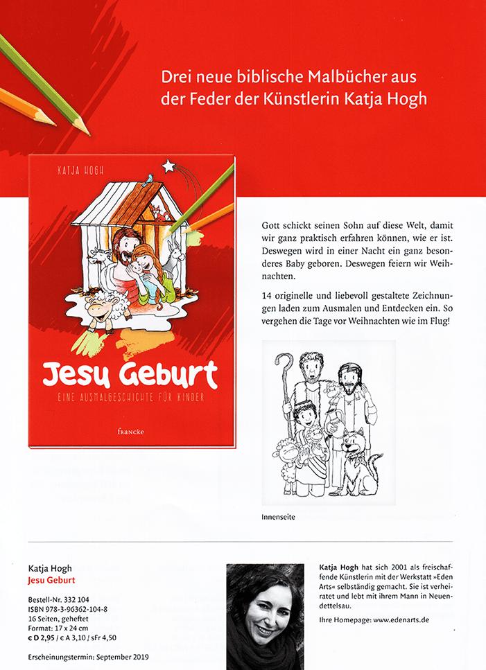 Jesu Geburt - Eine Ausmalgeschichte für Kinder