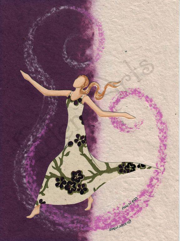 tanzende Frau - lila