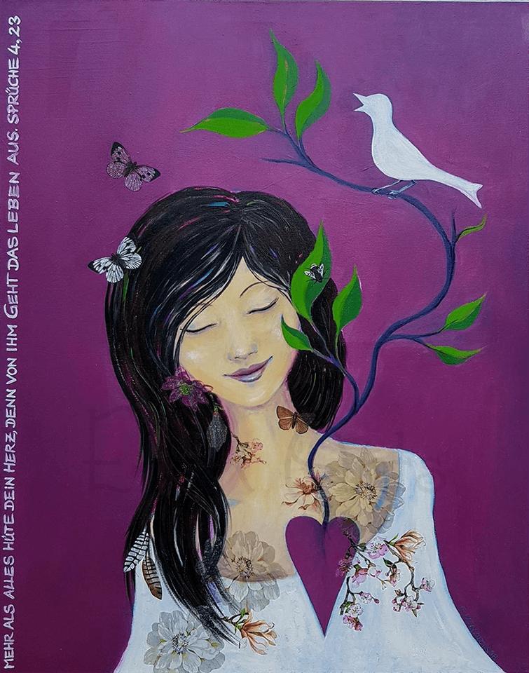 Wenn ich einen grünen Zweig im Herzen trage, wird sich ein Singvogel darauf niederlassen - Oktober 2018