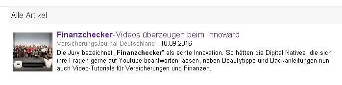 Netter Anblick: Platz 1 bei Google News mit einem Hinweis auf unser Projekt (Screenshot vom 22.09.2016)