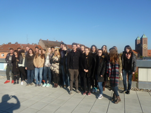Die Bankfachklasse BK12B - über Nürnbergs Dächern
