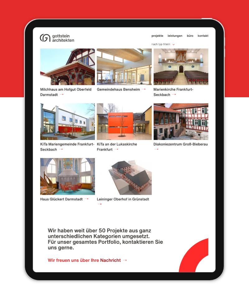 Individuelles Webdesign Tablet Ansicht