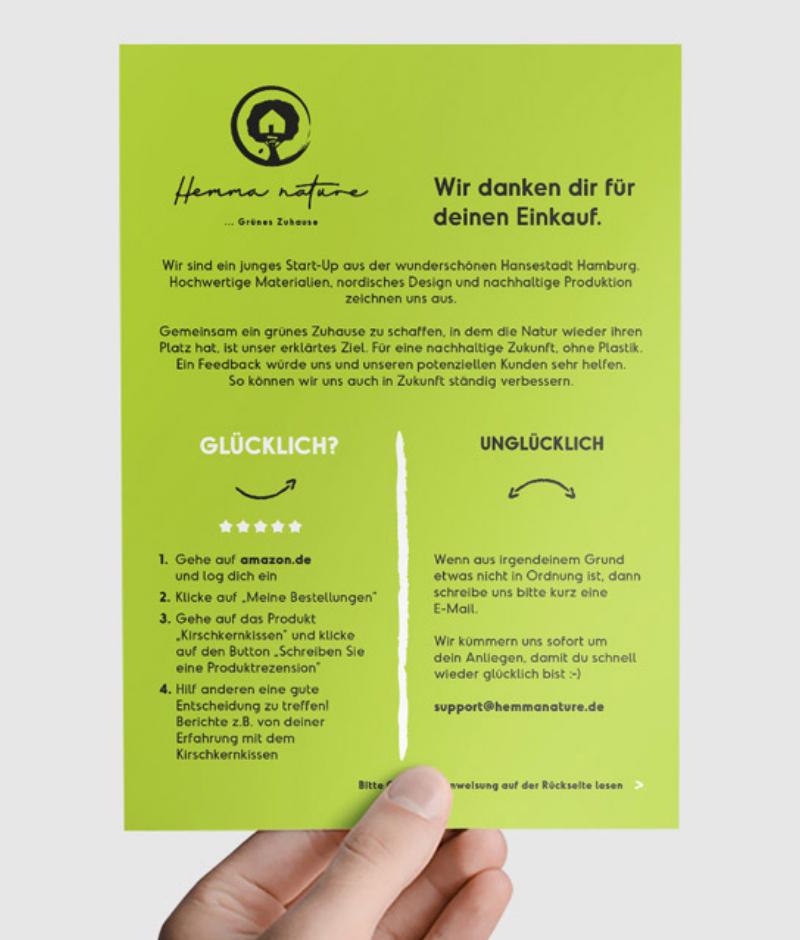 Beileger Flyer Design Kundenzufriedenheit