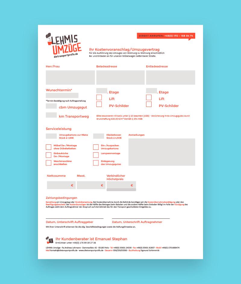 Corporate Design Interaktives PDF Formular Gestaltung