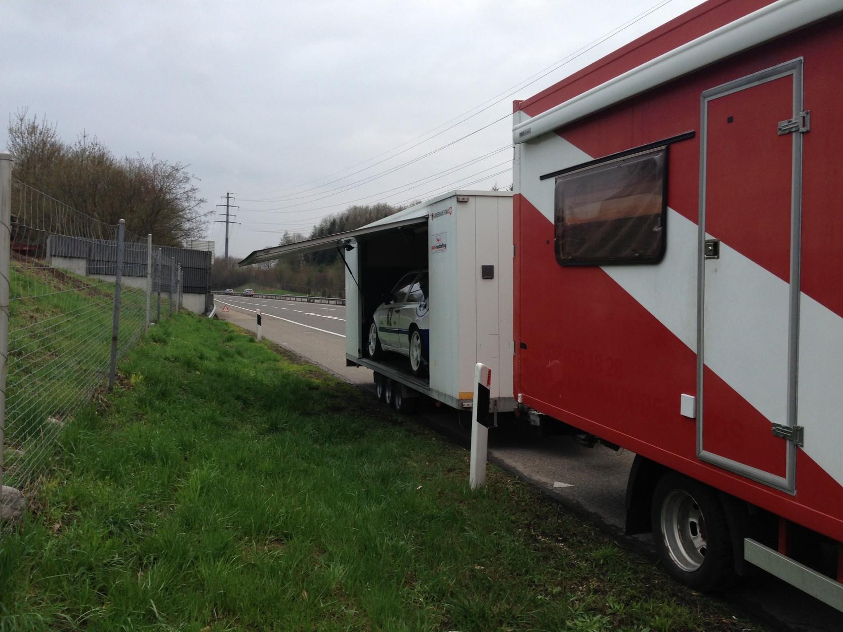 Autobahn A1 nach Zürich...da ging der Motor aus!!!