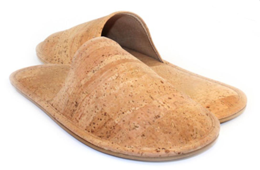 Kork-Lammfell-Pantoffel