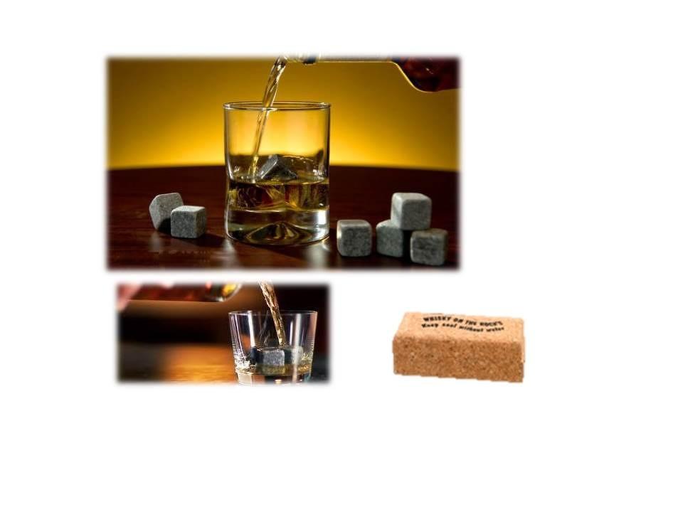 Granit-Kühlwürfel in Kork