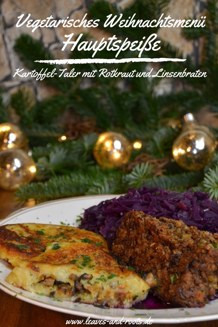 Vegetarisches Weihnachtsmenü Hauptspeiße